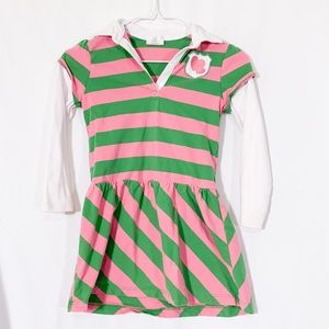 Crazy 8 green and pink candy stripe dress